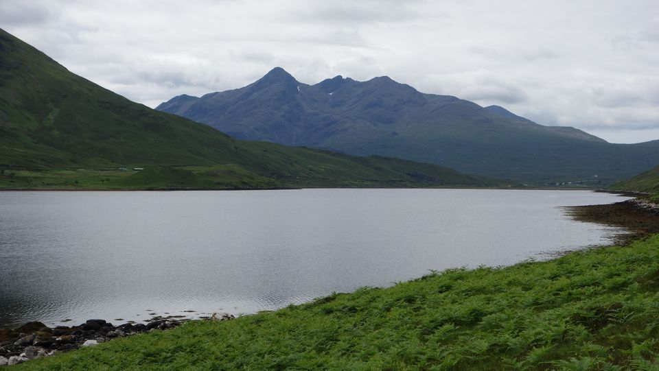 The Cuillins looking across Loch Sligachan