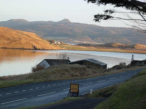 Looking back along the A87 from the entrance to Loch Aluinn.